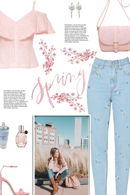 How to wear a Floral Embroidered Mom Jeans!