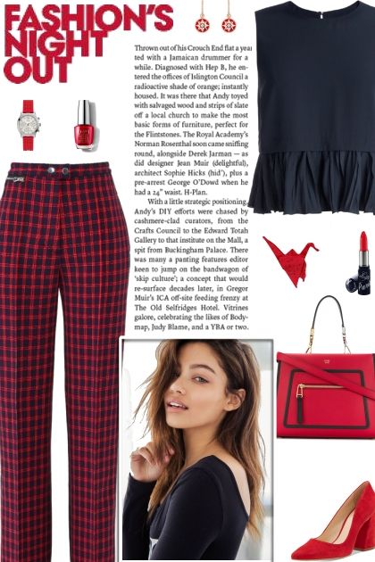 How to wear a Tailored Plaid Skinny Trousers!