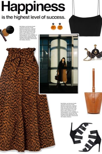 How to wear a Printed Denim Midi Skirt!