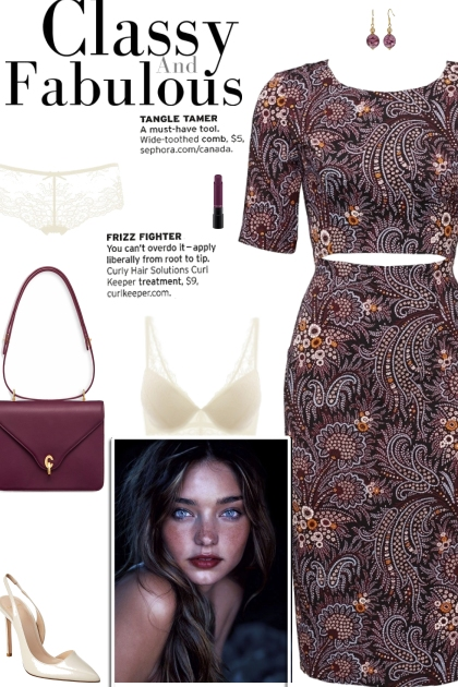 How to wear a Cut-Out Paisley Printed Dress!