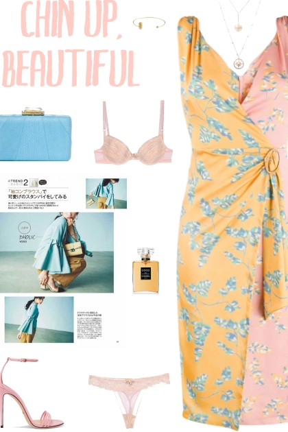How to wear a Two-Toned Floral Print V-Neck Dress!