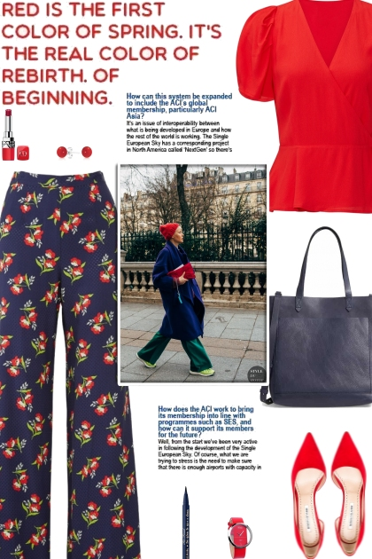 How to wear Floral Printed Flared Trousers!