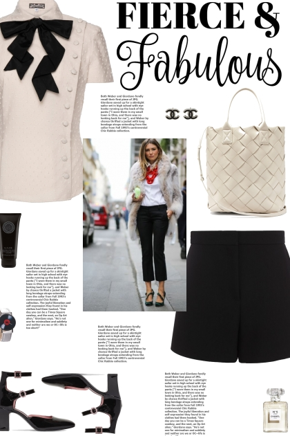 How to wear a Bow-Collar Buttoned Blouse!