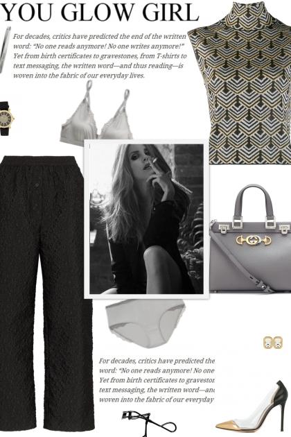 How to wear a Textured Cropped Culottes!- Combinaciónde moda