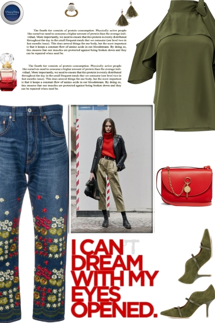 How to wear a Floral Straight Leg Denim Jeans!