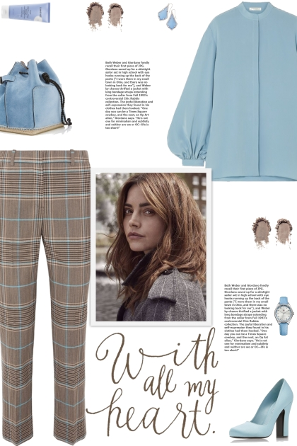 How to wear a Checked Wool Straight Leg Trousers!