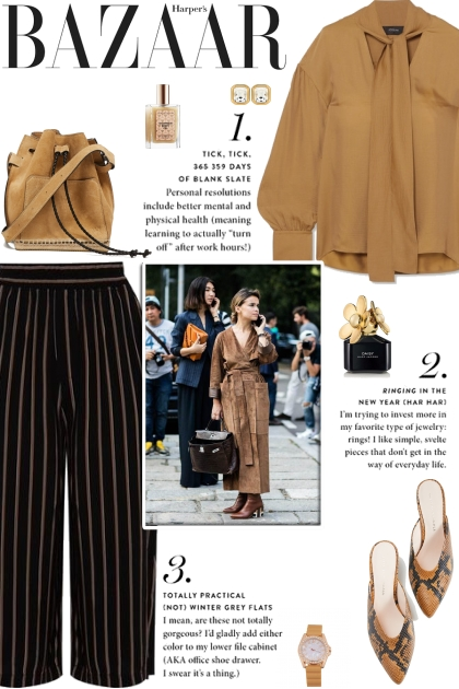 How to wear a Striped Fitted Culottes!