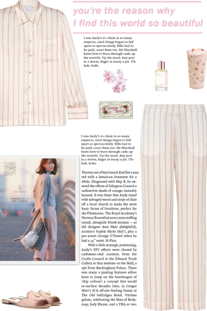 How to wear a Striped Silk Satin Pajama Set!
