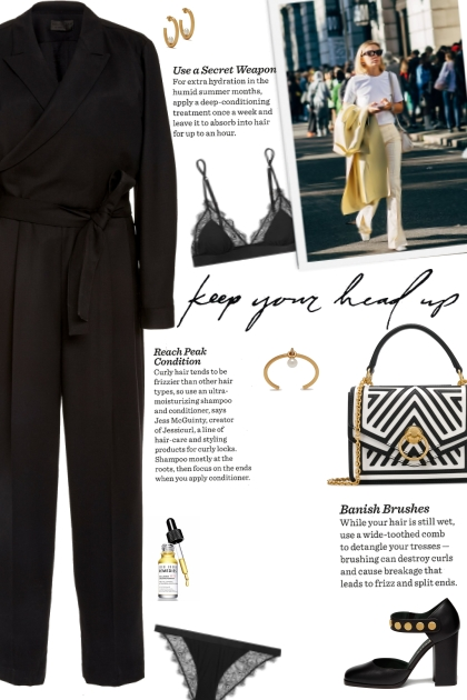 How to wear a Wrap Effect Belted Wool Jumpsuit!