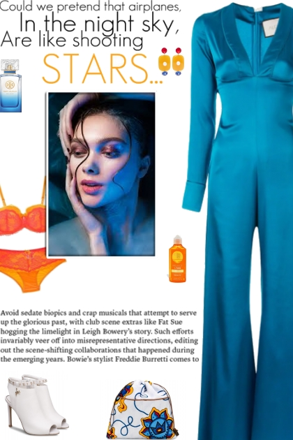How to wear a Plunging Neck Satin Jumpsuit!