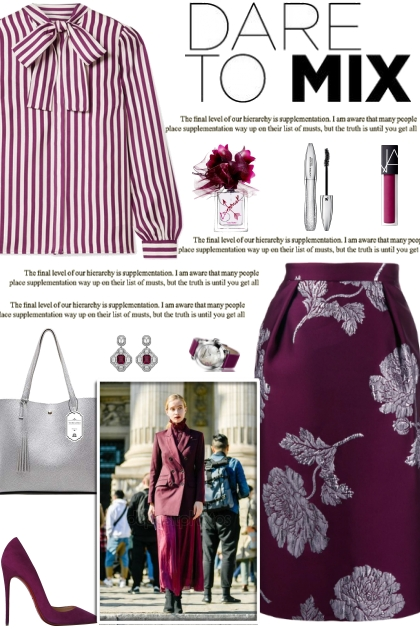 How to wear a Metallic Floral Pencil Skirt!