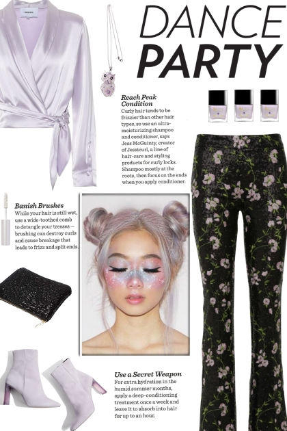 How to wear Floral Sequined High Waisted Trousers!