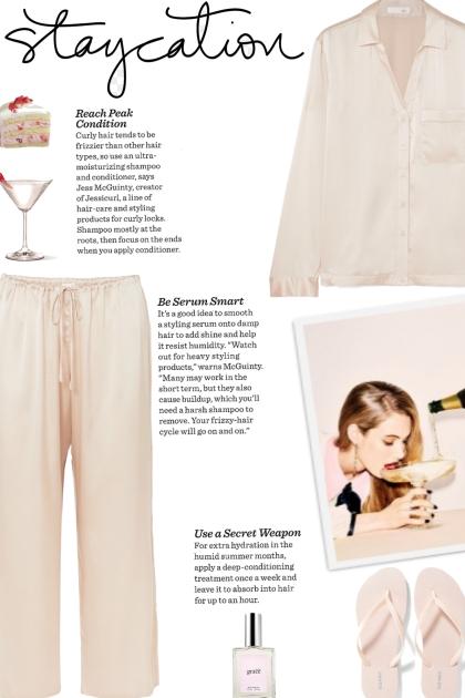 How to wear a Co-Ord Silk Stretch Pajama Set!