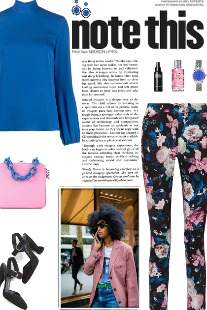How to wear Floral Print Slim Leg Trousers!