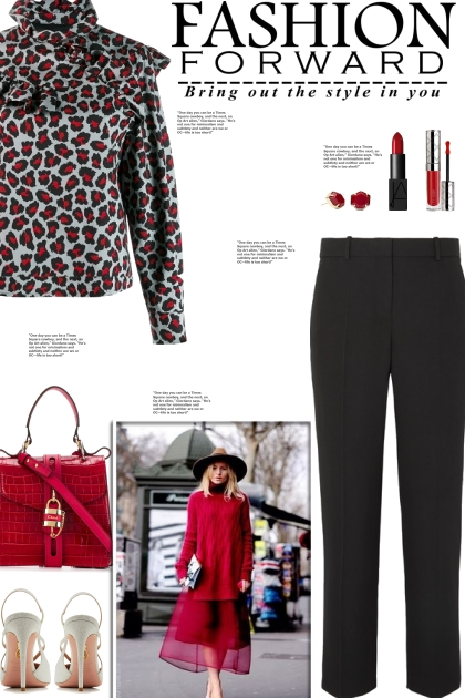 How to wear a Ruffled Detail Animal Print Blouse!
