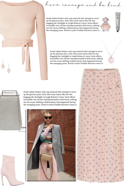 How to wear a Pleated Logo Print Midi Skirt!