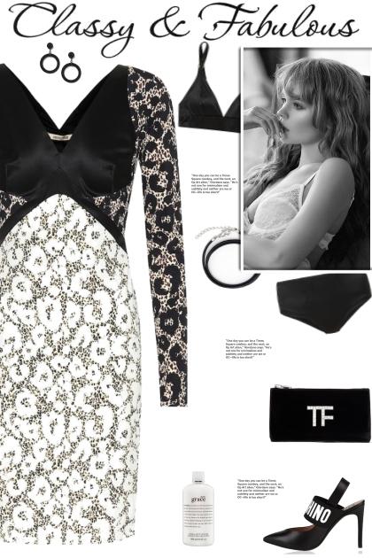 How to wear a Silk Bodice Monochrome Dress!