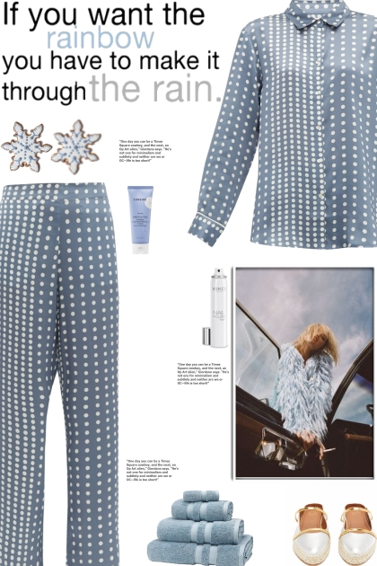 How to wear a Co-Ord Polka Dot Silk Pajama Set!