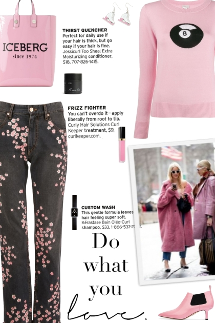 How to wear a Floral Print Cropped Jeans!- 搭配
