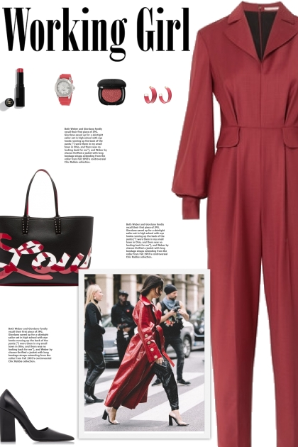 How to wear a Billow Sleeve Fitted Jumpsuit!
