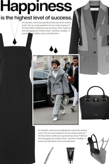How to wear a Wool Tweed Patchwork Blazer!