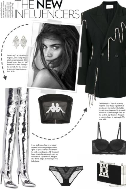 How to wear an Oversized Crystal Embellish Blazer!