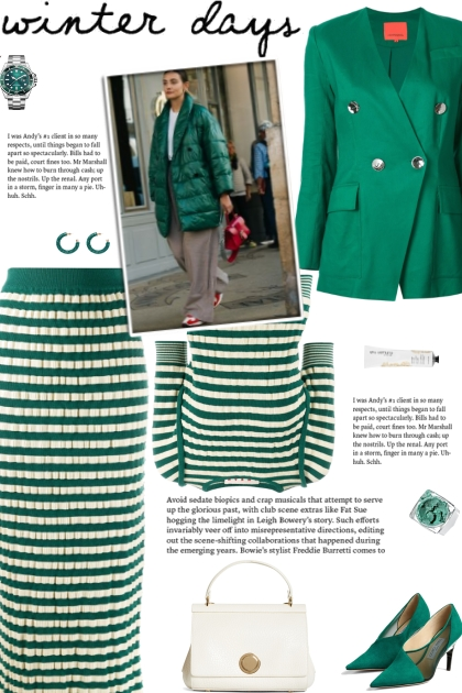 How to wear a Co-ord Striped Knit Skirt Set!