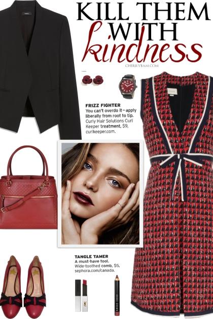 How to wear a Geometric Tweed Dress!