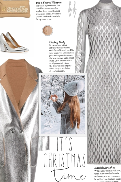 How to wear a Reversible Two-Toned Metallic Coat!