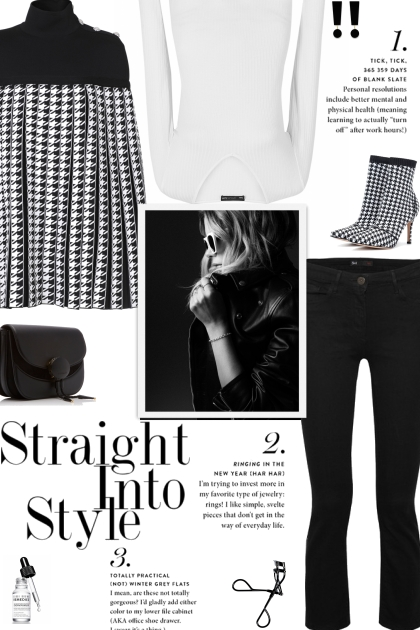 How to wear a Houndstooth Pleated Cape!