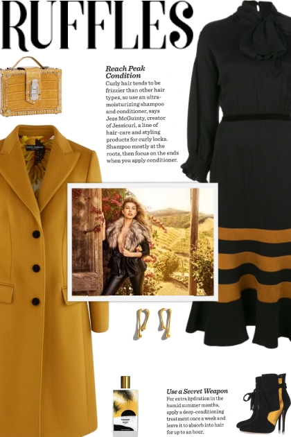 How to wear a Fitted Waist Wool Coat!