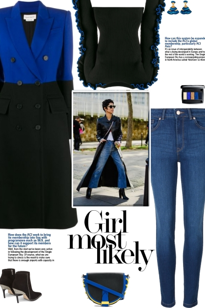How to wear a Color Block Wool Coat!