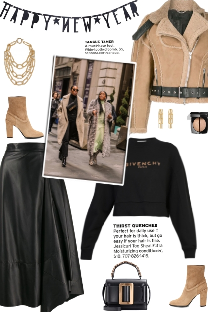How to wear a Cropped Shearling Jacket!