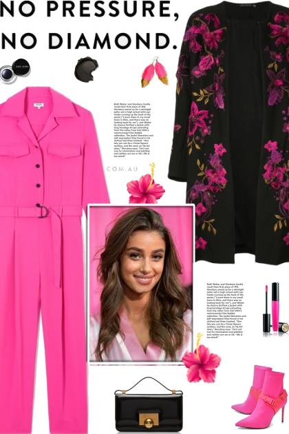 How to wear a Floral Embroidered Collarless Coat!