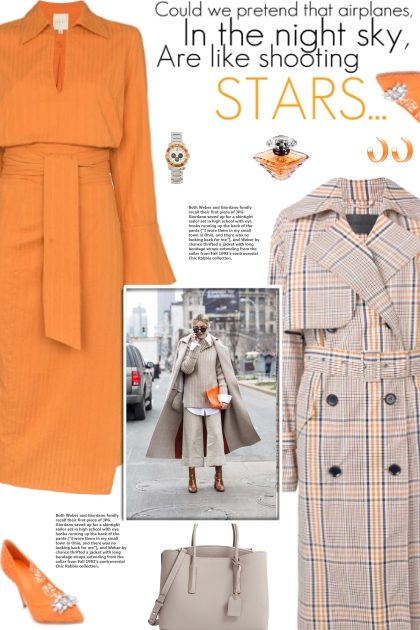 How to wear a Check Print Trench Coat!