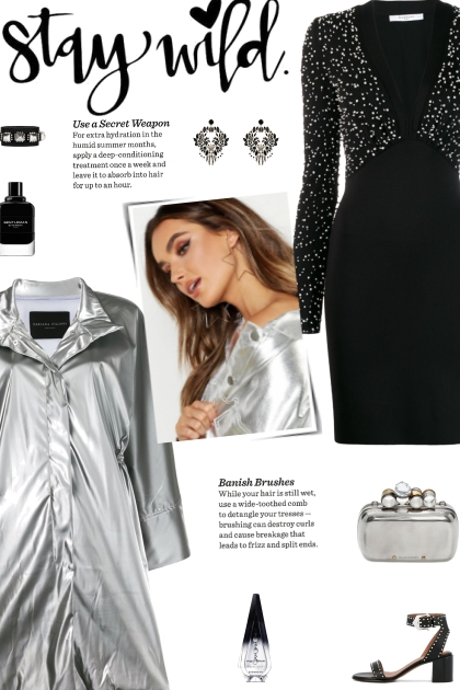 How to wear a Metallic High Collar Coat!