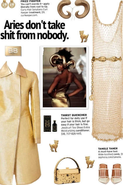 How to wear a Hand-Beaded Knitted Gold Dress!