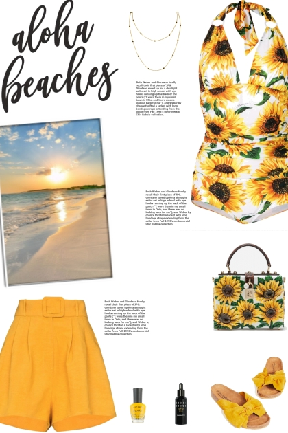 How to wear a Plunging Floral Print Swimsuit!