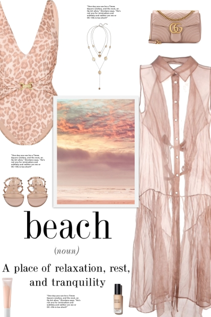 How to wear a Leopard Pastel Print Swimsuit!- Modna kombinacija