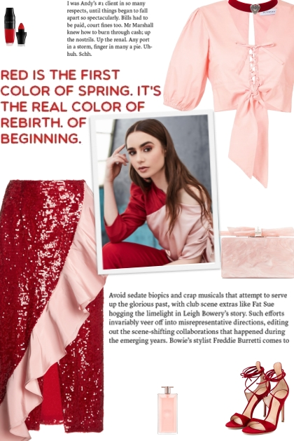 How to wear a Ruffle Trim Sequin Midi Skirt!