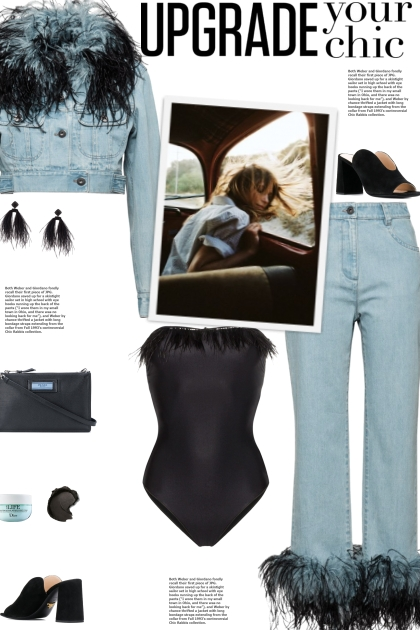 How to wear a Co-Ord Feather Trim Denim Set!