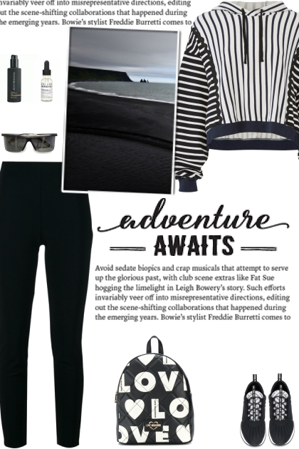 How to wear a Striped Monochrome Hoodie!