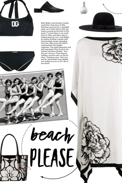 How to wear a Logo Print Monochrome Bikini Set!
