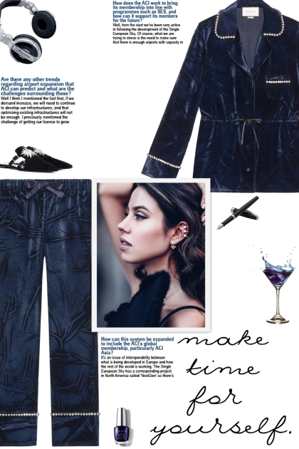 How to wear a Velvet Crystal Detailed Pajama Set!