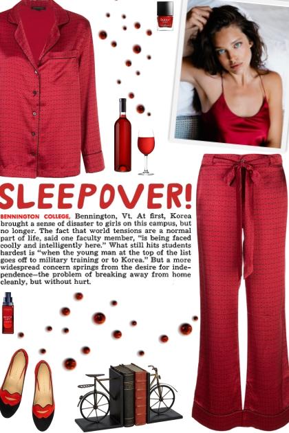 How to wear a Handcuff Pattern Print Pajama Set!