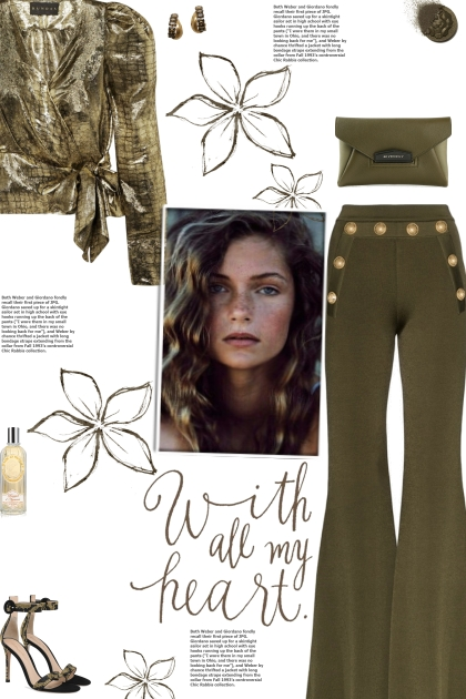 How to wear a Button Embellished Flared Pants!