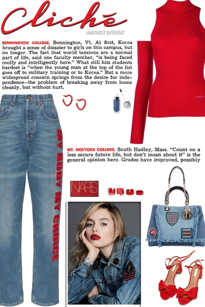 How to wear a Graphic Straight Leg Jeans!