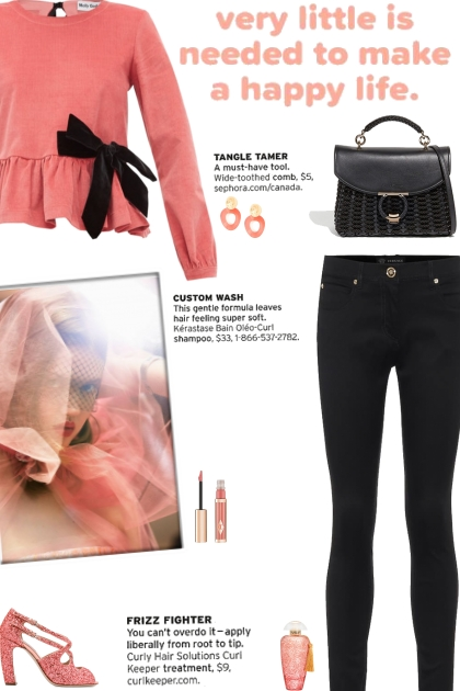 How to wear a Corduroy Peplum Bow Detail Top!