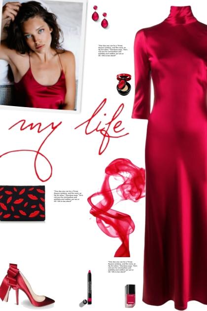 How to wear Three-Quarter Length Silk Midi Dress!