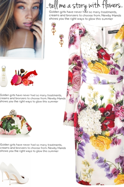 How to wear a V-Neck Floral Print Dress!- Fashion set
